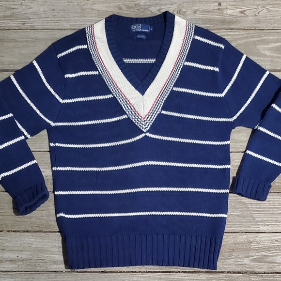 Extremely Rare Vintage Polo Ralph Lauren V-Neck Sw